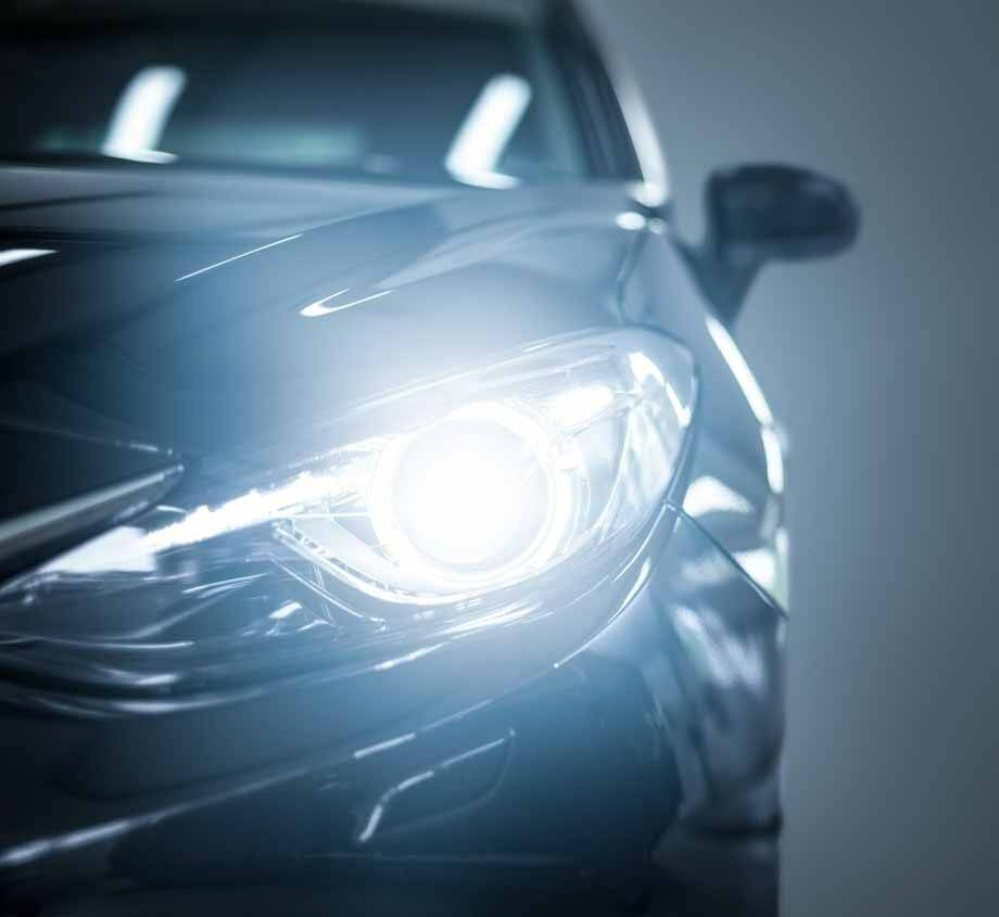 collision repair car headlight